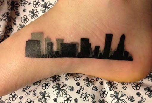 Este horizonte da cidade