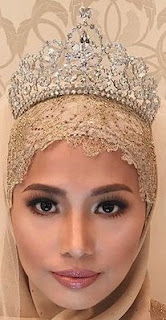 diamond floral tiara crown princess sarah brunei princess elina zuraidah
