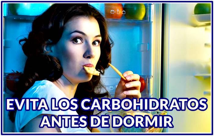 Los carbohidratos en la noche te hacen engordar