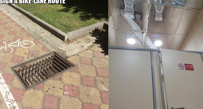 Les architectes sont allés vraiment trop loin avec les 4 photos suivantes. Surtout la 4 !
