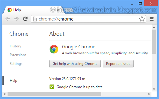 google chrome 23.0