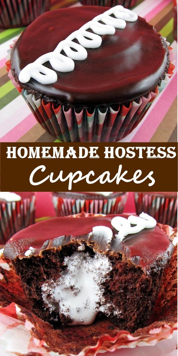 Homemade Hostess Cupcakes #Cupcakesrecipes