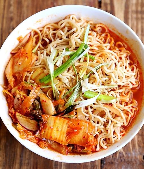 Korean ramen with kimchi