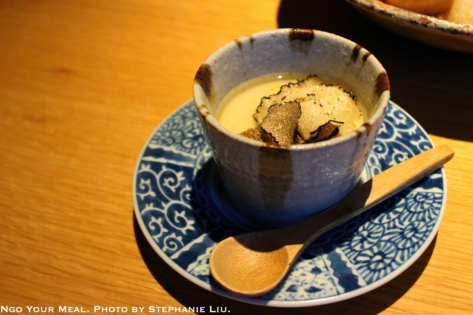 Black Truffle Chawanmushi with Shaved Black Truffles at EN Japanese Brasserie