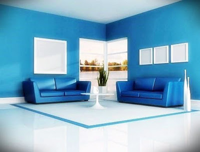 Inspirasi Ruang Tamu Bernuansa Biru