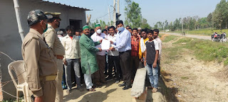 भारतीय मजदूर किसान संगठन ने कृषि विधेयक बिल को वापस लेने के लिए प्रधानमंत्री को सम्बोधित ज्ञापन नायब तहसीलदार को सौंपा