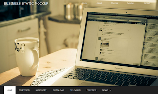 Business Portfolio Mockup Static Blogger Template
