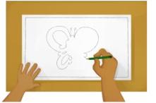 ilustrasi menggambar pola kupu-kupu