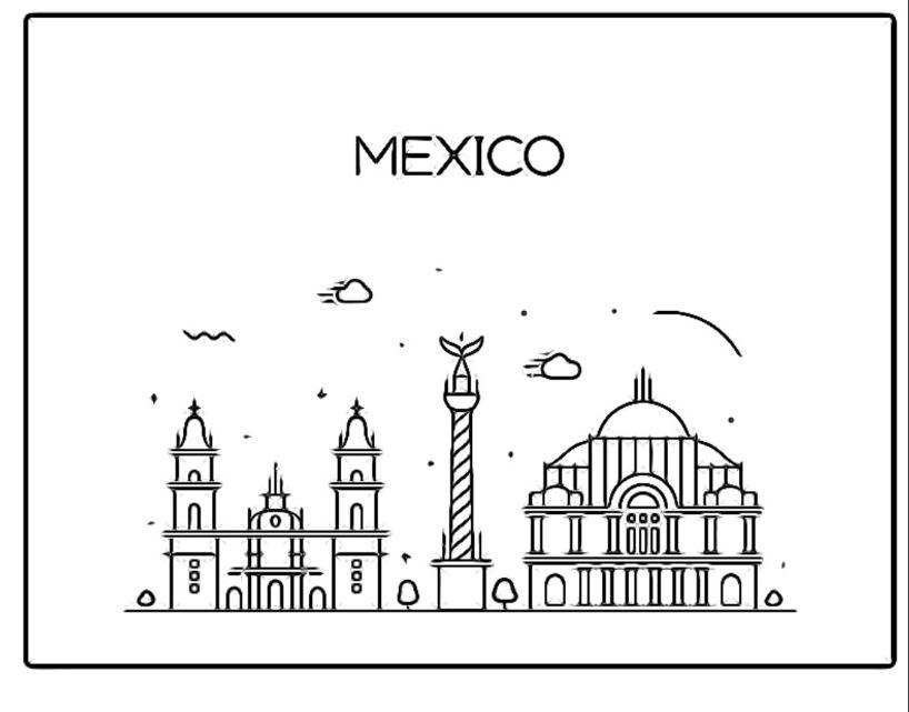 Monumentos De Mexico Colorear Jugar Y Colorear