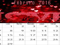 Fondo de Pantalla Calendario de Febrero 2016