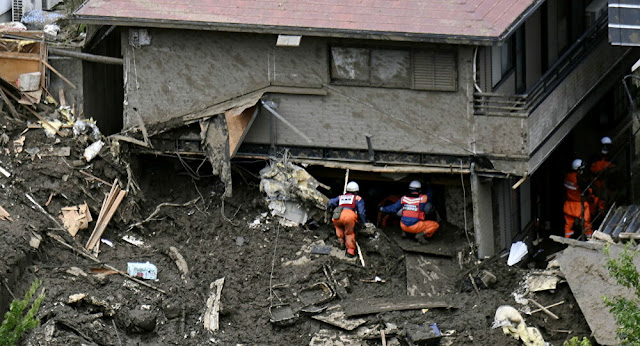 Disaster for Mudslide in Japan's city of Atami
