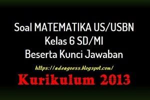 Soal Prediksi US/USBN MATEMATIKA SD/MI Tahun 2020
