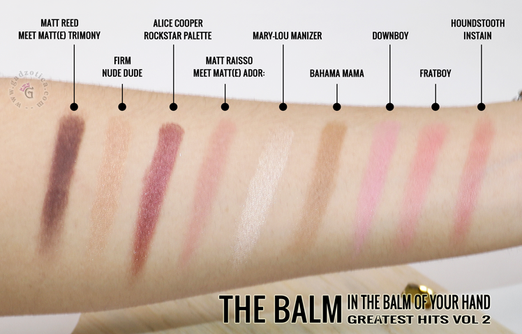 The Balm In The Balm Of Your Hand Greatest Hits Volume 2 Palette