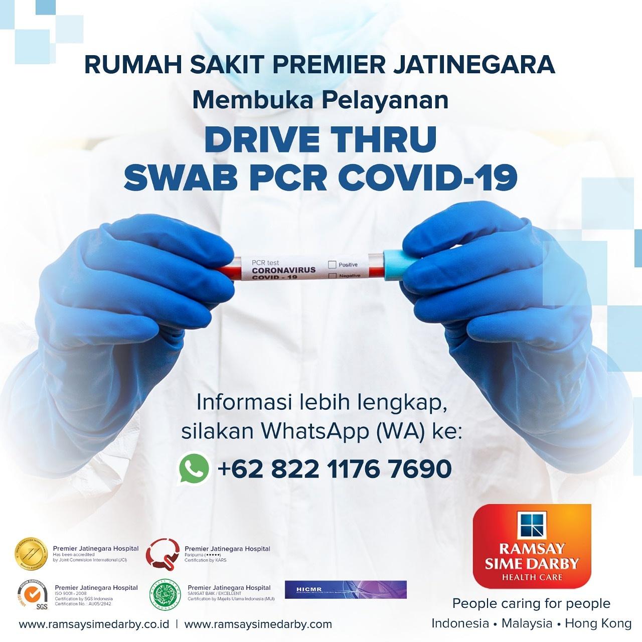 Swab PCR Covid-19 di RS Premier Jatinegara dengan Drive Thru