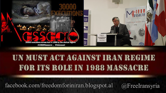 UN Must Act Against Iran Regime for Its Role in 1988 Massacre