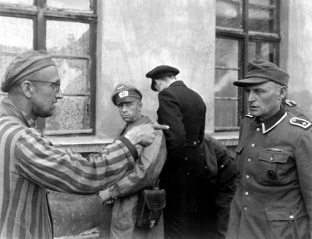 A holocaust survivor points out his abuser during World War II worldwartwo.filminspector.com