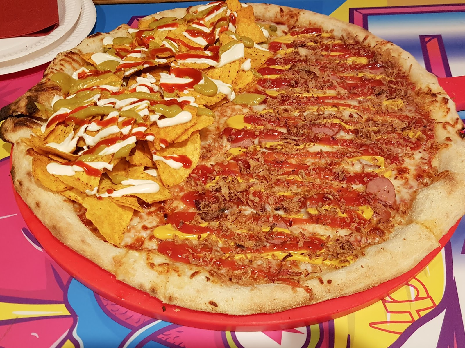 Crazy Pedro's Manchester pizza review Nacho Libre Hotdog Pizza