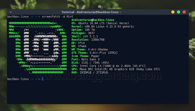 Cara Install Screenfetch di Ubuntu dan Linux Mint