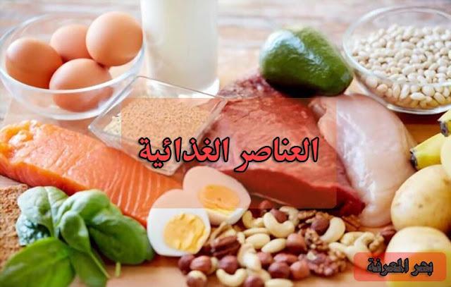 طعام يحتوي علي عناصر غذائية مختلفة