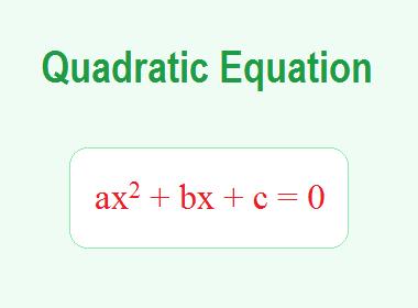 Quadratic Equation
