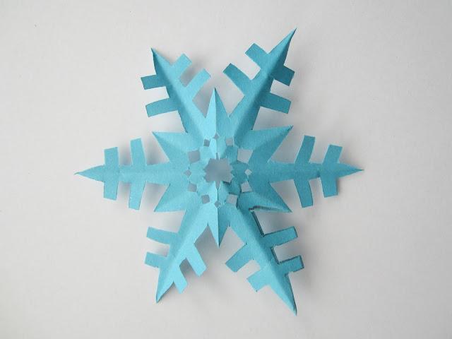 Sneeuwvlok met 6 punten knippen