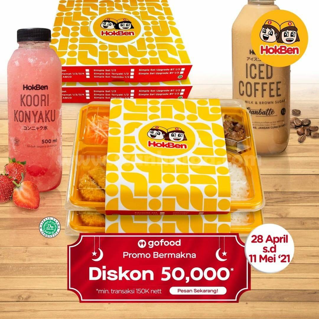 HOKBEN Promo DISKON Rp 50.000 khusus pemesanan via GOFOOD