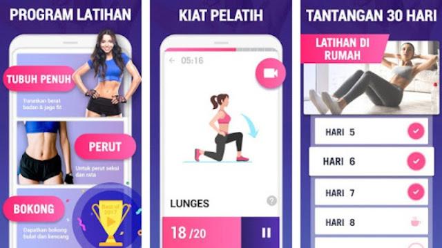 Aplikasi diet gratis di Android
