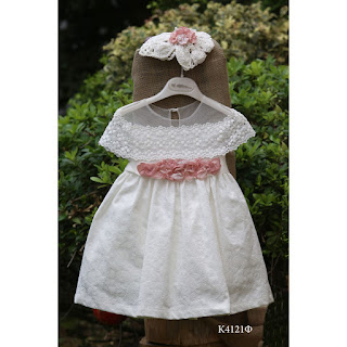 baptismal dress in romantic style