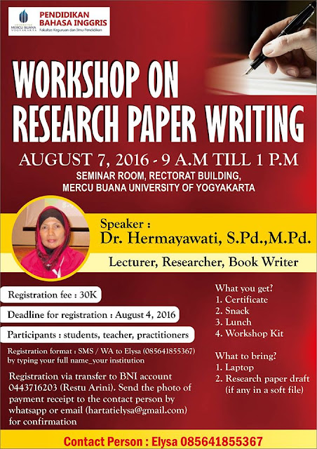Workshop on Research Paper Writing jogja