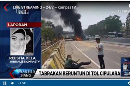 10 Kendaraan  yang Terlibat Kecelakaan Beruntun dan Terbakar di Tol Cipularang