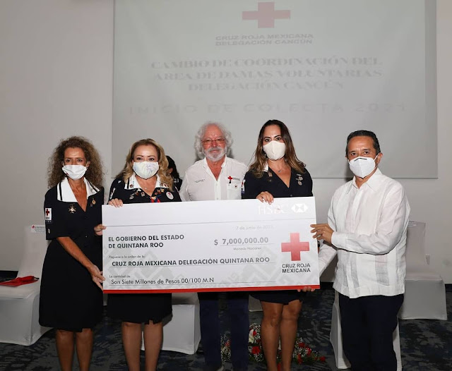 El gobierno del estado de Quintana Roo realizó un donativo.