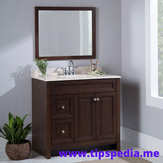 cognac bathroom wall cabinet