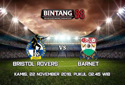 Prediksi Bristol rovers vs Barnet 22 November 2018