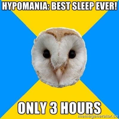 hypomania no sleep