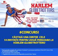 Castiga invitatii pentru doua persoane la Harlem Globetrotters