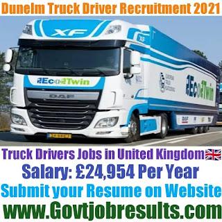 Dunelm Truck Driver Recruitment 2021-22