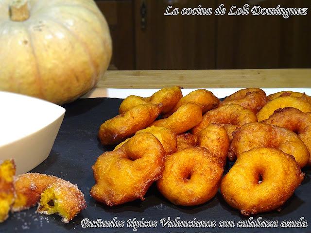Buñuelos Típicos Valencianos Con Calabaza Asada