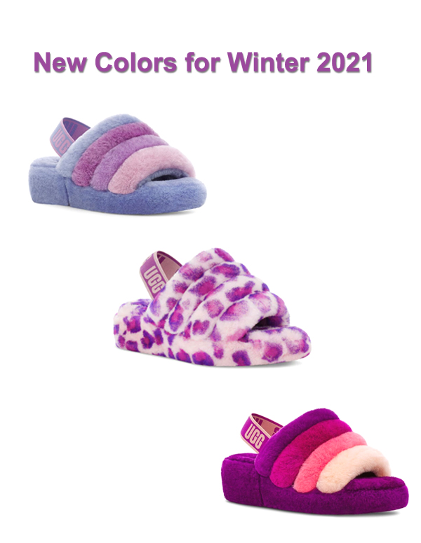 UGG Fluff Yeah slippers cornflower berrylicious multi