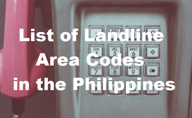 Landline Area Codes in the Philippines