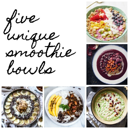 5 unique smoothie bowls