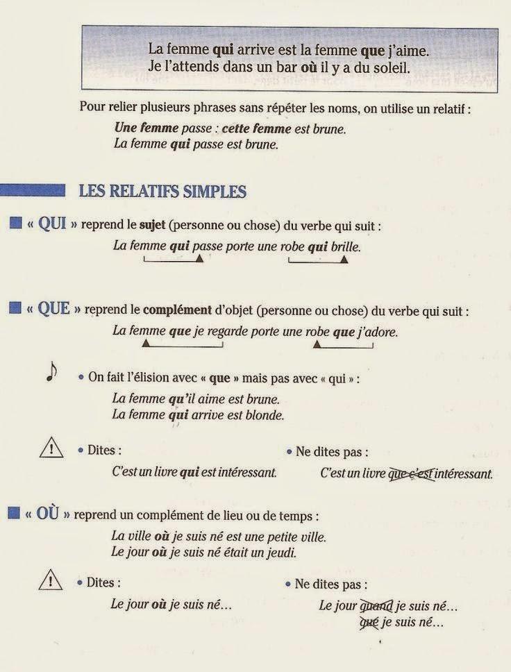 Zaimki względne proste - teoria 11 - Francuski przy kawie