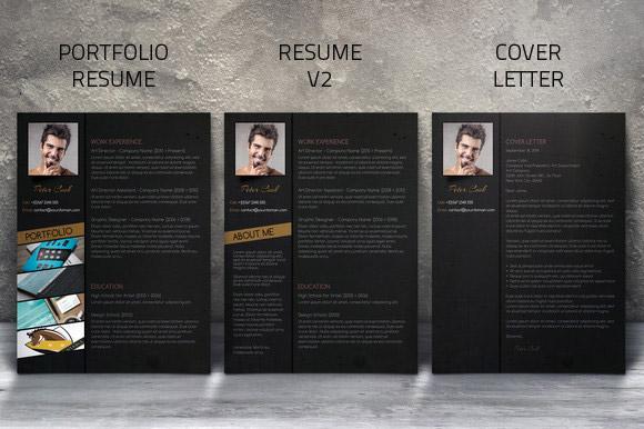 Ücretsiz siyah CV tasarımı