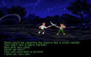 Lucha de espadas e insultos en Monkey Island