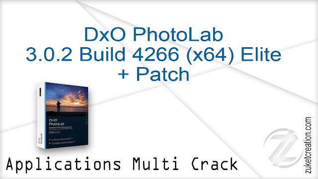 DxO PhotoLab 3.0.2 Build 4266 (x64) Elite + Patch
