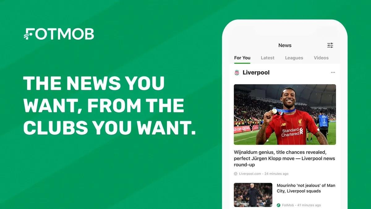 FotMob تطبيق كرة القدم رقم 1 الذي يقدم النتائج في الوقت الفعلي والأخبار وإخطارات الأخبار العاجلة من فرقك المفضلة