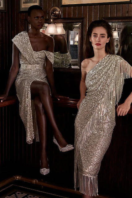 Badgley Mischka Fall Winter 2021 FW21 during New York Fashion Week by fashion blogger Kelly Fountain