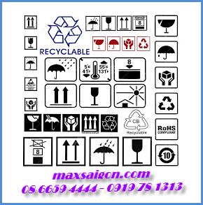 Các loại biểu tượng ghi chú trên hàng hóa để mọi người lưu ý