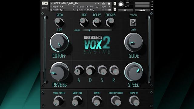 Interface da Library Red Sounds - VOX Engine 2 (KONTAKT)