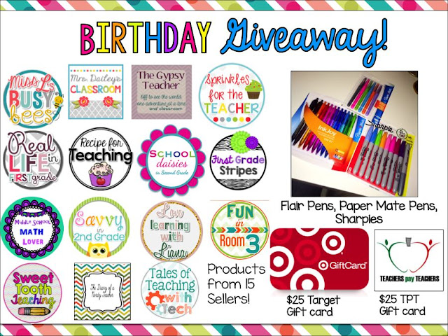 Sweet Tooth Teaching Birthday Giveaway