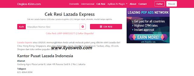 Bagaimana cara cek resi lex atau lazada lel express Tutorial Cek Resi Lazada Lel Express (LEX ID, LGS)